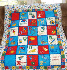 182 best ABC LETTER QUILTS images on Pinterest | Letters ... & Items similar to Made to Order - Toddler Boy's ABC Quilt on Etsy Adamdwight.com