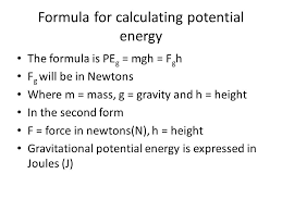 6 formula for calculating potential energy