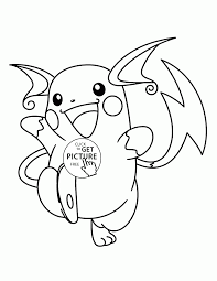 Raichu Pokemon Coloring Pages For Kids Pokemon Characters