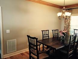 blank wall in dining room