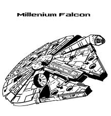 Millenium Falcon In Star Wars Coloring Page Download Print