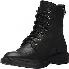 dolce vita women s bardot combat boot black leather 10 medium us