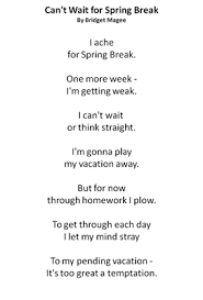 spring break poem