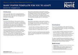 Poster Templet Posters University Of Kent