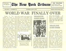 Old Fashioned Newspaper Article Template Front Page Of A Newspaper Template Metabots Co