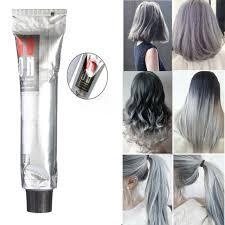 diy fashion grannyhair light gray hair colouring cream permanent super dye 100ml for