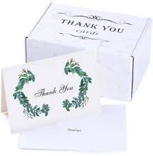 Blank Thank You Notes Details About 50 Thank You Cards Bulk Thank You Notes Blank Note Cards With Self Seal