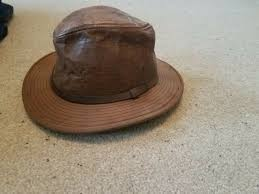 adventure bound made in usa brown leather hat men s large fedora indiana jones