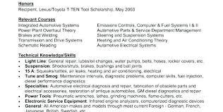 Auto Mechanic Resume Templates Automotive Mechanic Resume Examples Format Mmventures Co