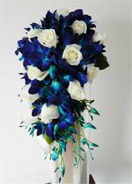 tropical bouquet with orchids