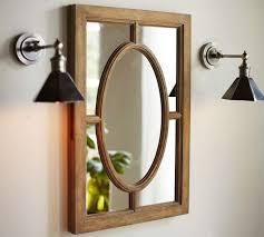 Oval Mirror Medicine Cabinet Bathroom Garden Home Party