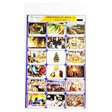Photo Chart Of Indian Festivals Buy Education Chart Set Of Festival Of India Online At Low