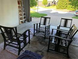 spray painting outdoor furniture love