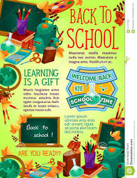 How To Design A Poster For School Back To School Supplies Poster Education Design Stock
