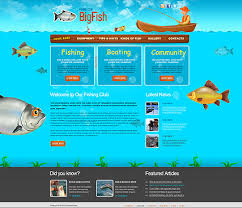 Free Fishing Website Templates Download Fishing Website Template