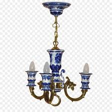 cobalt blue chandelier ceiling light fixture gzhel
