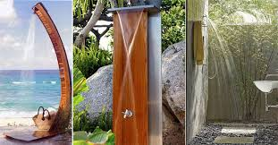 ai irresistible outdoor shower designs for your garden 9