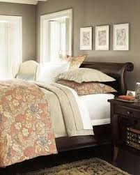 wall paint for brown furniture. espresso wood with pinkbeige comforter this wall color looks like iced mauve 2115 paint for brown furniture e