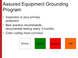 Assured Grounding Color Chart Electrical Cord Inspection Color Code Bahangit Co