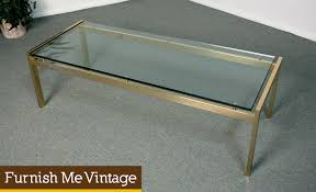 glass top metal coffee table vintage mid century two tier glass coffee table brass colored w
