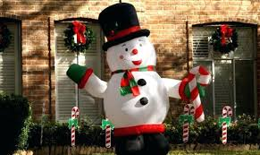 outdoor inflatable decorations snowman
