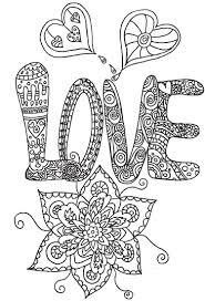 Coloriage Love Mandalas Et Dessins Anti Stress Pinterest
