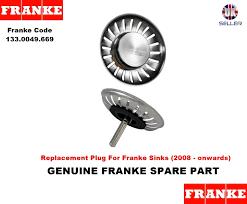 franke lira 008445 basket strainer waste sink plug w2 94 view larger
