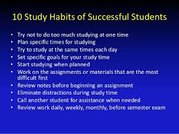 effective study tips  you had in your notes 8 10 study habits