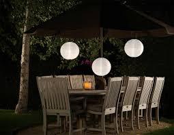 Witte Solar Lampion 30cm
