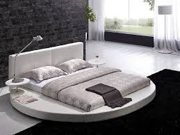 modern white leather headboard round king size bed 2018 sofa bed