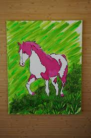 large horse painting original horse wall art colorful horse