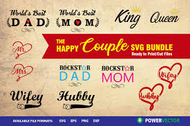 The fonts,including any derivative works, can bebundled, embedded, redistributed and/orsold with any software provided that anyreserved names are not used byderivative works. The Happy Couple Svg Bundle Graphic By Powervector Creative Fabrica