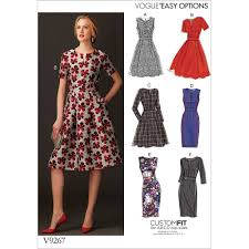 Fit And Flare Dress Pattern Classy Misses FitAndFlare Dresses With Waistband And Pockets Vogue Sewing