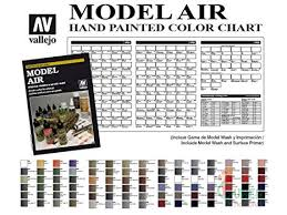 Amazon Com Vallejo Model Air Hand Painted Color Chart Toys