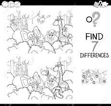 Vettoriale Illustrazione Di Cartone Animato In Bianco E Nero Di
