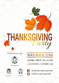 23 thanksgiving flyers psd word templates demplates thanksgiving party flyer