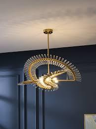 Postmodern luxury LED Crystal Chandelier <b>Nordic creative living</b> ...
