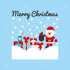 Designs For Christmas Cards Free Cute Christmas Card Design Vector Illustration