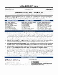 ... Scm Resume format Lovely Senior Logistic Management Resume ...
