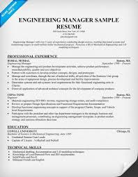 engineering manager sample resume engineering executive resume