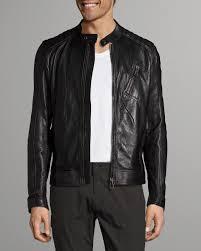 v racer leather jacket black belstaff