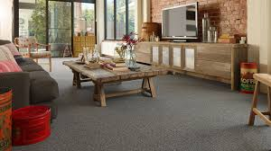 wall to wall carpet. Agreeable Living Room With Dark Grey Wall To Carpet Also Rustic Wooden Table I