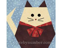Fat Cat quilt block paper pieced quilt patterns instant & 🔎zoom Adamdwight.com