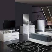 white modern bedroom furniture.  White 8103Aurora White Bedroom Set By Global WUpholstered Bed With Modern Furniture O