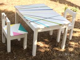 Build an easy DIY kids table and chair set. This simple tutorial can be  completed