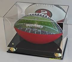 Football Display Stands Amazon DisplayGifts Full Size Football Display Case Stand 88