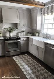 painted gray kitchen cabinetsGray Kitchen Cabinets With Wood Countertops  ellajanegoeppingercom