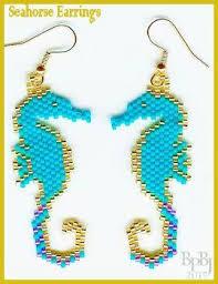 Brick Stitch Patterns Adorable Bead Pattern Seahorse Earrings PeyoteBrick Stitch Bead