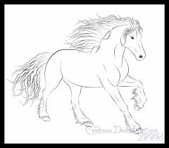 Small Picture Free Coloring Pictures Of Realistic Horses Printable Horse