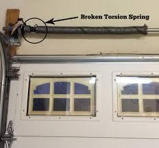 garage door tension spring broke doors design how to replace garage door torsion